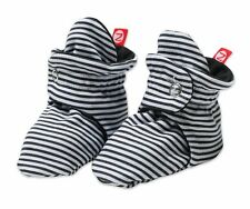 NEW ZUTANO Candy Stripe Cotton Baby Booties - Black FREE SHIPPING