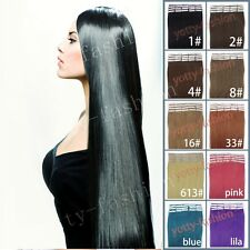 Skin Weft PU Seamless Tape In Remy Human Straight Hair Extensions 20''22''24''