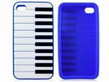 For iPhone 4 4S Piano Silicone Rubber GEL Soft Skin Protector Phone Case Cover