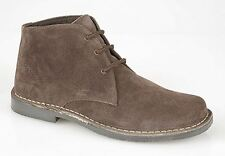 Roamers 3 eyelet Real Suede Leather Mens Desert Boot Dark Brown 6 7 8 9 10 11 12