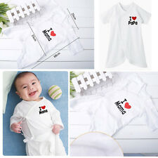 Newborn Baby Boys Girls Cartoon Bodysuit Outfit Costume Romper Cotton Clothes
