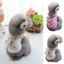 Small Pet Dog Cat Bow Sweater Pullover Puppy Warm Fleece Coat Clothes S-XXL