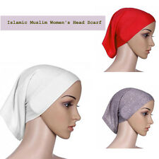 1Pcs Women's Under Scarf Tube Bonnet Cap Bone Islamic Head Cover Hijab Muslim
