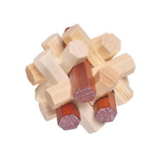 Intellectual Wooden Puzzle Kong Ming Luban Lock Brain Teaser Toys Game for Kids