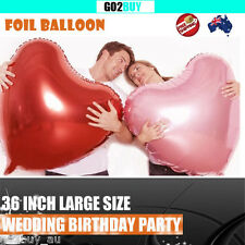 """36"""" Heart Foil Balloon Kids Birthday Wedding Party Decoration 6 Colors"""
