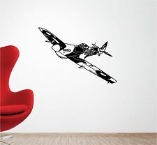 SPITFIRE plane vinyl wall art QUOTE sticker bedroom aeroplane war army