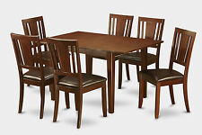 7 Piece small kitchen table set - dinette table with 6 Dining Chairs