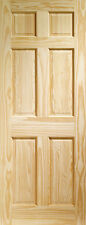CLEAR PINE COLONIAL 6 PANEL INTERNAL DOOR