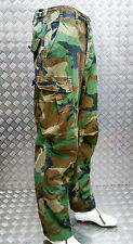 US ARMY Style Ripstop 6 Pocket Hot Weather Combat Trousers Woodland Camo
