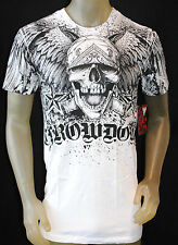 NWT THROWDOWN by AFFLICTION mens WASP ss MMA UFC graphic Tee T0293 white *M, L