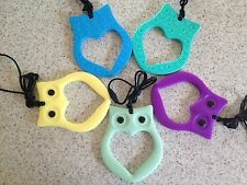 "Silicone Teething Teether Nursing Baby & Mum Jewellery Teether Necklace ""Owl"""