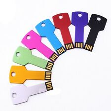 50PCS Metal Key USB Flash Drive Pendrive Memory Stick Custom LOGO Gift 128MB-8GB