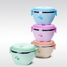 New Insulated Lunch Box Student Bento Box Dinnerware Stainless Food Container