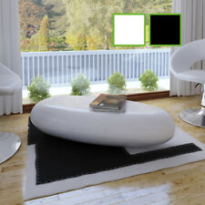 B#NEW Coffee Table Side Table Fiber Glass White / Black High-quality High Gloss
