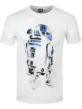 Star Wars The Force Awakens R2-D2 Men's White T-shirt