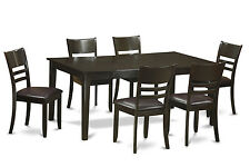 7 PC Dining Room Set-Kitchen table having Leaf and 6 dining room chairs.