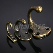 5pc Vintage Bronze Single Wall Hook Coat Clothes Necklace Hat Towel Door Hangers