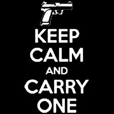 Keep Calm And Carry One T-Shirt All Sizes & Colors (627)