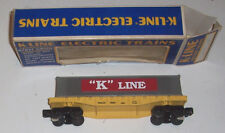 K-line K-6611 LIONEL Container Flat O/O-27 Trailer Train Car with OB FREE SHIP