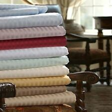"New 800-TC 100% Cotton Stripe Sheets 34"" Deep Pocket 4-PC OR 6-PC Sheet Set"