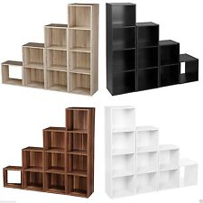 1,2,3,4 Tier Wooden Bookcase Shelving Display Storage Wood Shelf Shelves Unit