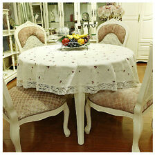 """86"""" Round Cotton Table Cloth Table Cover Floral Printing For Kitchen 154"""