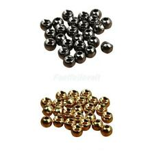 25 Tungsten Slotted Fly Tying Beads Nymph Head Beads 2.4/3.3/4/4.6mm Gold/Black
