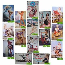 Metal Tin Signs Pin Up Sexy Girls Home Pub Bar Wall Decoration