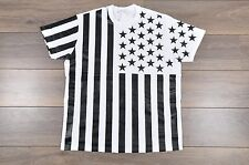 GIVENCHY Authentic White Cotton Colombian Oversized US Flag Print Tshirt sz XS