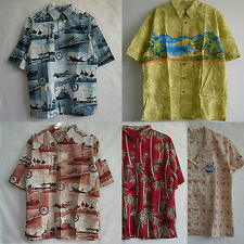 New High Quality Aloha Cotton Rayon Mens Ladies Shirts Short Sleeve Button-Front