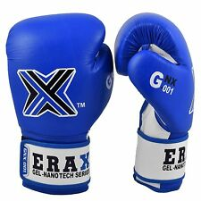 ERAX Cowhide Leather Gel Nano Tech Training Boxing Gloves with Free Hand Wraps