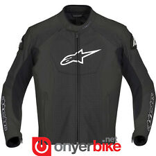 Alpinestars GP-R Leather Mens Perforated Track Motorcycle Motorbike Jacket Black