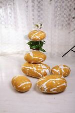 A set YELLOW  pebble stone pillow/pillowcases rock cushion/cushion covers