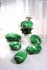 A set GREEN pebble stone pillow/pillowcases rock cushion/cushion covers