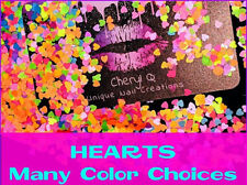 Solvent Resistant ~ HEART Shape~ You Choose Color~ Nail Art/Acrylic/Gel Nail USA