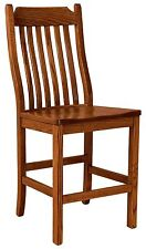 """Set (3) Amish Franklin 24"""" Stationary Counter Height Bar Stools Solid Wood"""