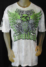 NWT THROWDOWN by AFFLICTION men ICE short sleeve MMA UFC tee T06699 *M-XL