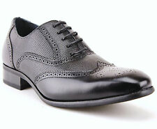 New Delli Aldo Mens Lace Up Wing Tip Perforated Leather Lined Dress Shoes 19122