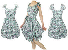 New Eucalyptus Delphine Vintage Retro 50's Delphine Floral Tea Swing Dress 8 -14