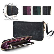 Convertible Croc Smartphone Wallet Case Wristlet & Gold Crossbody Chain ESXLZP7
