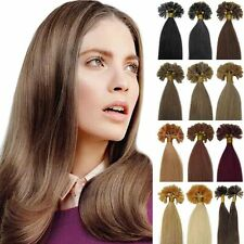 Pre-Bonded Keratin Nail U Tipped Remy Brazilian Human Hair Extensions 18''-22''