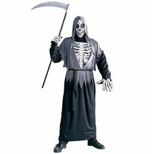 costume Mask Skull Grim Reaper Horror Scary Overalls black costume Skeleton