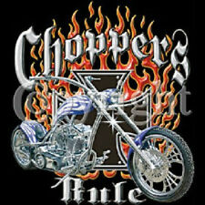 CHOPPERS RULE BIKER T SHIRT ALL SIZES AND COLORS (547)