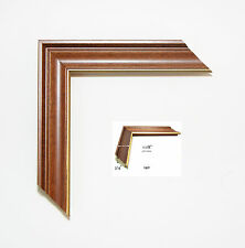 Custom Picture Frame | Walnut w/ Gold Lip | Great for Dimplomas & Certificates