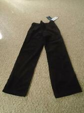 Hartstrings Boy's Black Corduroy Pants Flat Front Size 8 NEW NWT