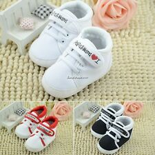 Girl Boy Baby Toddler infant Soft Sole Crib Shoes sneaker Size 0-6-12-18 Months