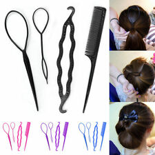 4Pcs Set Hair Clip Bun Maker Topsy Tail Braid Ponytail Maker Hair Twist Tool DIY