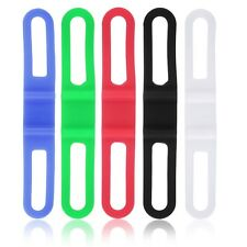 5pcs Silicone Rubber Bike Bicycle Holder Mount Tie Strap Elastic Bandage BG