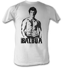 Rocky T-shirt Towering Over Classic Adult White Tee Shirt