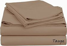 Scala Bedding 1000-TC 100% Cotton Flat Sheet Taupe Solid Choose Item Size